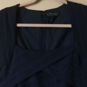 White House Black Market Dresses - Navy blue party dress